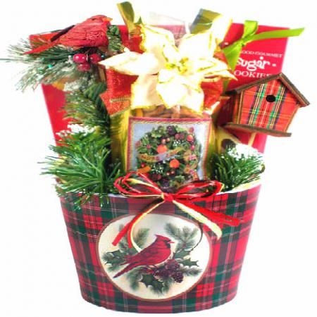 Cardinal Christmas Basket