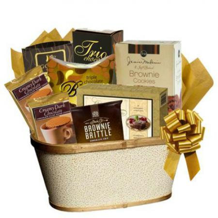 Chocolate Cookies and Cake Gift Basket