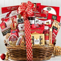 Beautiful Christmas Party Gift Basket
