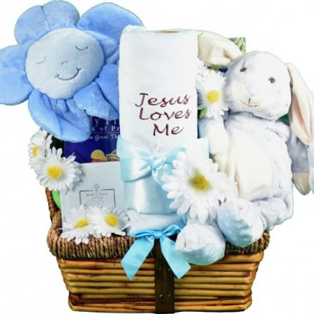 Christian baby gift basket