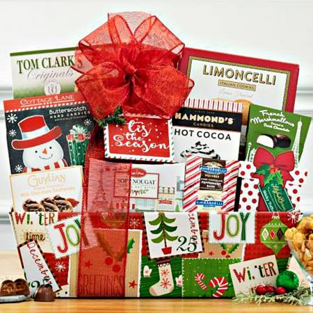 Christmas Greetings Gift Basket For Delivery