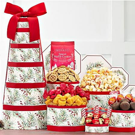 Christmas holiday gift tower send