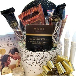 Book and Coffee Gift Basket