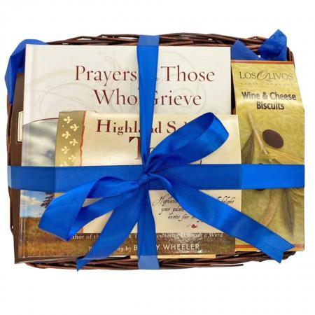sympathy book gift baskets