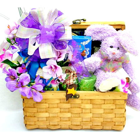 bunny time easter gift basket