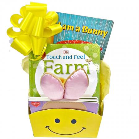 Easter baby and toddler gift basket