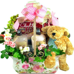 Vintage Rose Gift Basket For Her