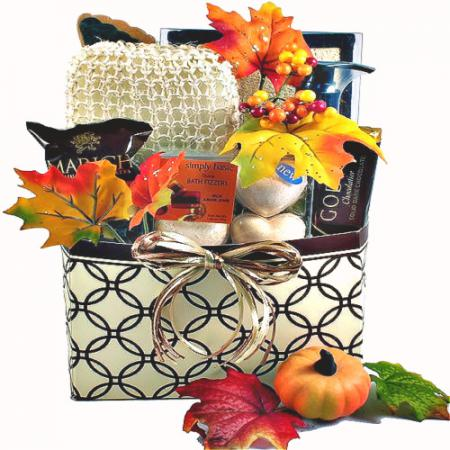fall spa gift box
