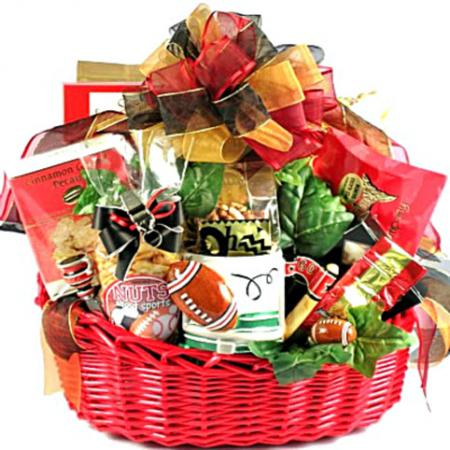 football theme gift basket