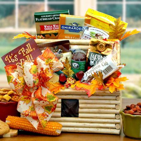 Thanksgiving Log Cabin Gift Basket