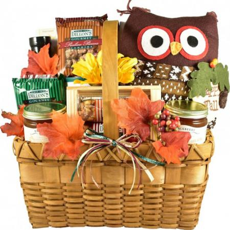 Fall gift basket for thanksgiving