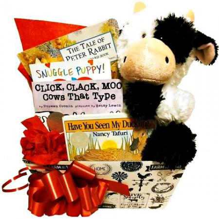 farm animal gift baskets for babies and kids