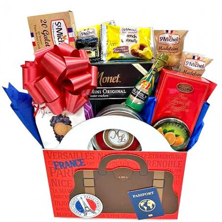 French gourmet food gift basket