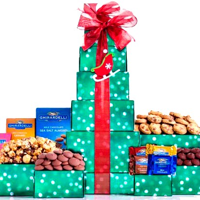 Dark and Milk Chocolate Gift Tower