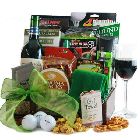 Wine-Champagne-Golf-Gift-Basket