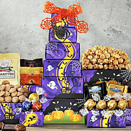 Trick or Treat Chocolate Halloween Gift Tower