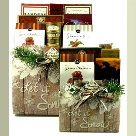 Holiday Let It Snow Gift Basket