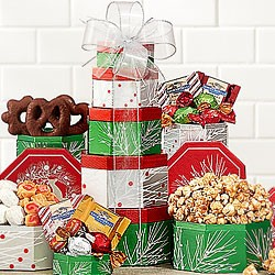 Holiday Season Gift Tower