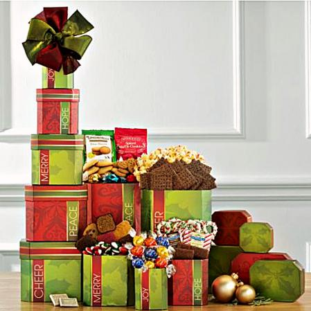 Christmas gift boxes of sweets
