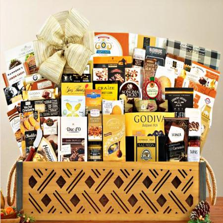 huge gourmet food gift basket