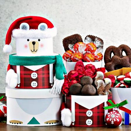 polar bear gift tower