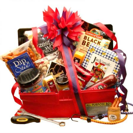 Unique Foodie Gift Basket for a Man