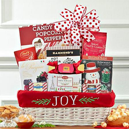 joy to the world Christmas gift basket