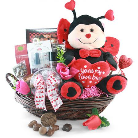 you are my love bug valentines day gift basket