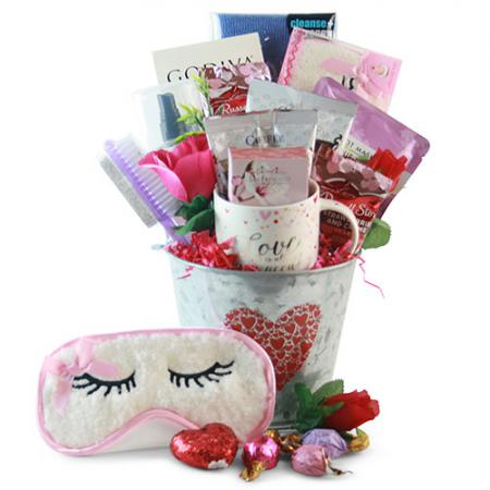 love at first site valentine gift pail