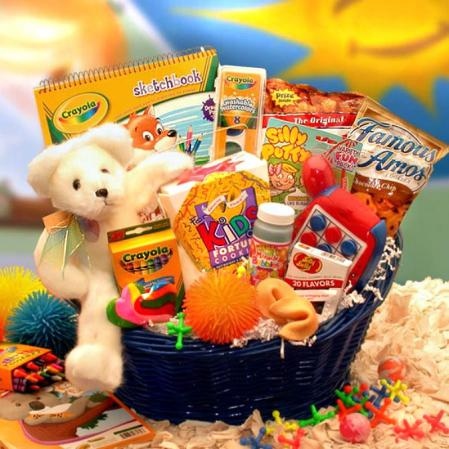 Basket Filled With Gifts That Kids Love