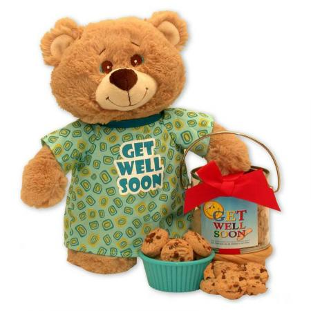 Plush Teddy Bear and Cookie Pail
