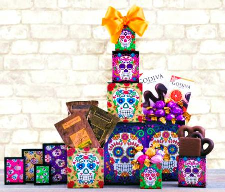 creepy weepy halloween gift tower