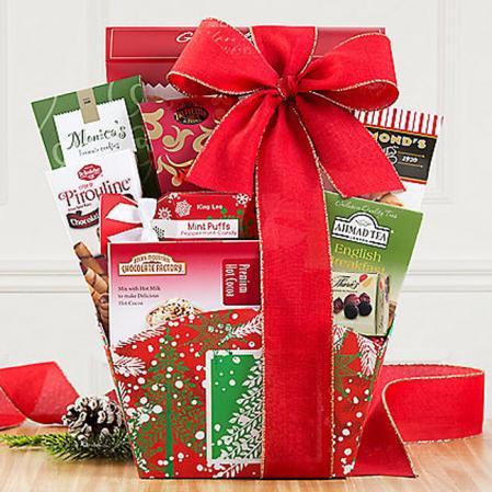 Christmas Holiday Cocoa Gift Basket