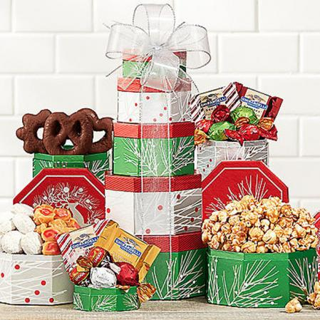 Large Holiday Gift Tower