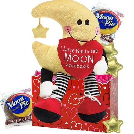 love you to the moon valentine gift