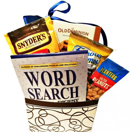 word search snack care package