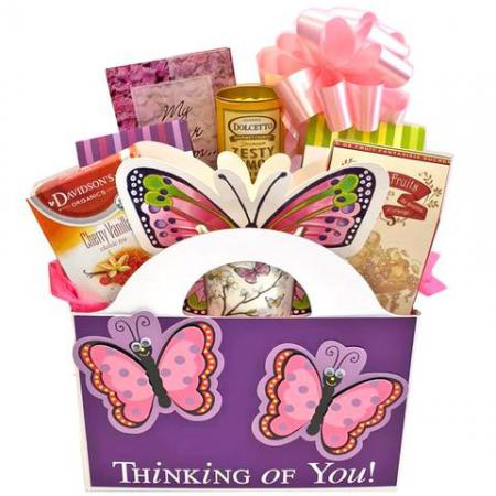 Mother's Day Gift Basket Butterfly Kisses & Sweets