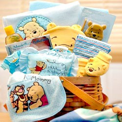 Winnie The Pooh Gift Basket for Baby Boy
