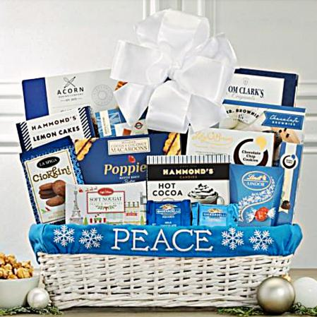 holiday peace on earth gift baskets