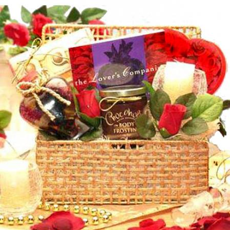 Love you more romantic gift basket giving you my heart gift basket sciox Image collections