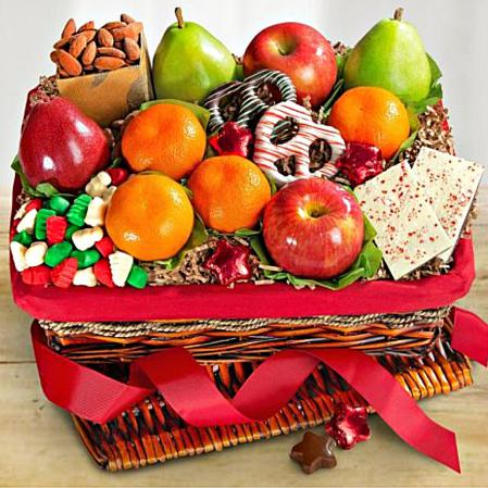 Holiday delights fruit basket
