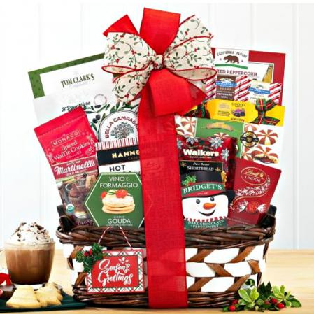 greetings holiday basket gift