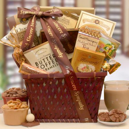prayers and sympathy gift basket