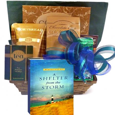 Shelter From The Storm Sympathy Gift Basket