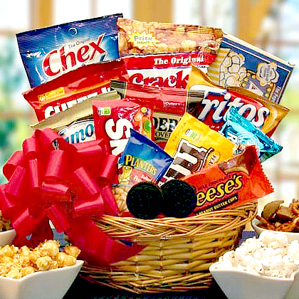 snacks gift basket