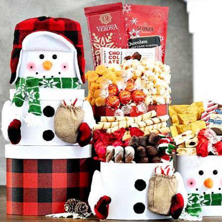 snowman christmas gift box