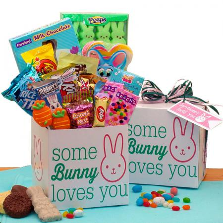 easter bunny loves you gift package