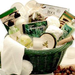 Relaxing Tranquility Bath and Body Basket