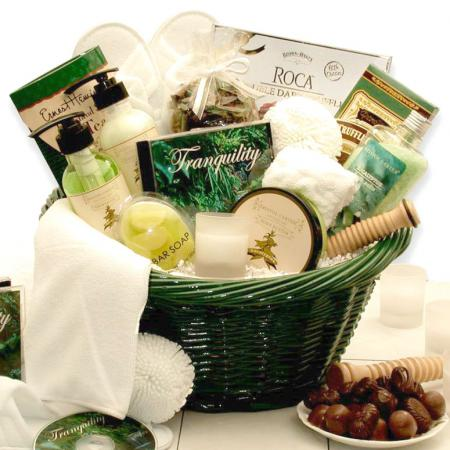 Soothing Pamper Spa Basket, Moisturizing Bath Luxuries & CD