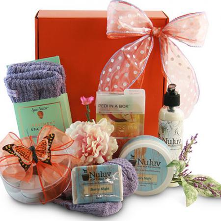 relaxing take-a-soak gift basket